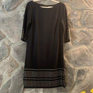 Eliza J Midi Black Dress